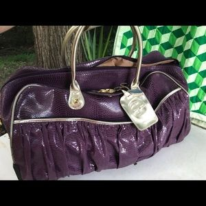 Designer Large purse style carryon wheeled Luggage